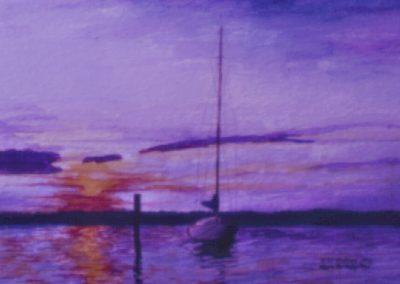 Cutty Hunk Piling Sunset Seasprite
