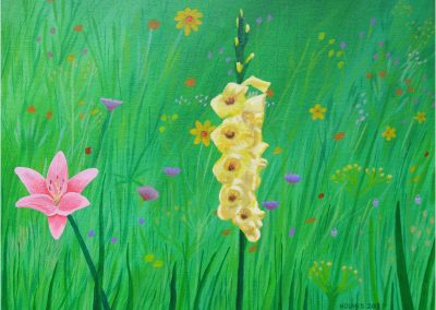 Wildflowers in Grass, 16x12