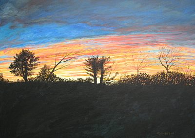 Backyard Sunset, 24x18