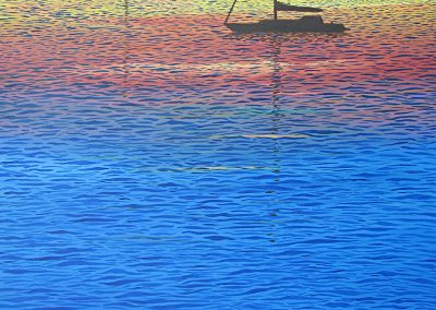 Sunset With Two Boats, 30x40