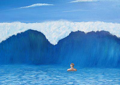 Large Wave, 40x30