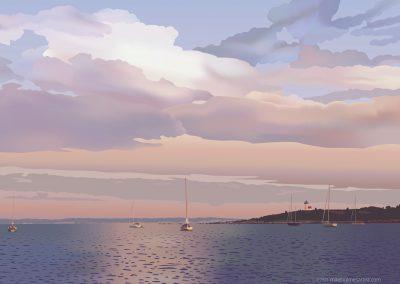 Tarpaulin Cove Evening